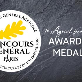 10 Agrial products awarded medals at the Concours Général Agricole 2020!